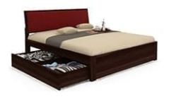 great king size bed with storage solution for bedroom available in Pune