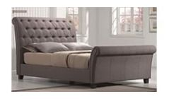 luxurious upholstered bedstead