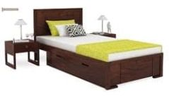 Stylish Wooden Single Beds Online India