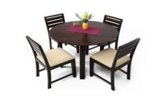 Buy Wooden Round Dining Sets Online in Bangalore