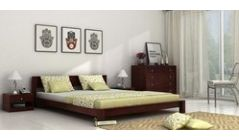 comfortable wooden double beds
