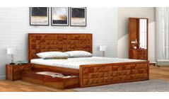 wooden king beds