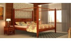 wooden king beds with poster