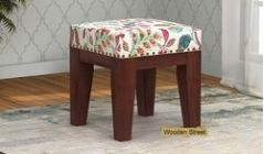 buy wooden stool with upholstery