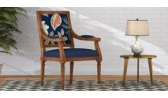 wooden chairs with arm online