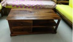 Table and solid wood furniture for living area in Hyderabad