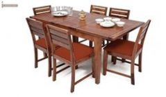 wooden folding dining table set
