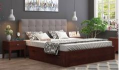 storage bed with upholstery