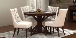 Round shape dining table sets online