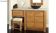 Wooden Bathroom vanities with large storage space