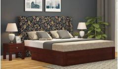 designer fabric bed with storage drawers