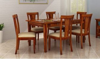 buy 6 seater dining table set online india