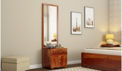 solid wood dressing table with storage