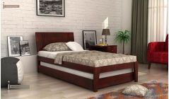 mango wood trundle bed in mahogany finish