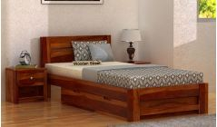 sheesham wood single bed with storage for sale