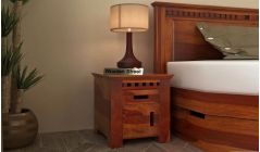 stylish bed side table with drawer storage