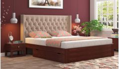 king size beds online India made-up of mango wood