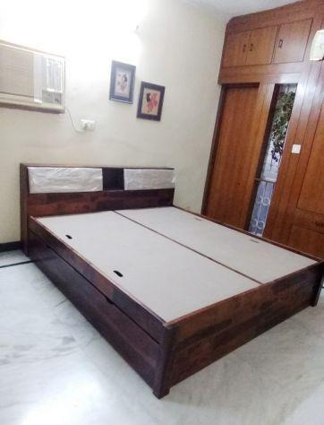 storage bed with headbaord