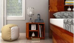 buy bed side table with shelf style storage