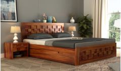 classic storage queen size bed design