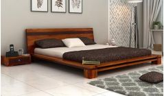 low floor queen bed online crafted with sheesham wood