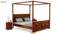 solid wood poster bed online India