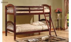 solid wood bunk bed with staircase