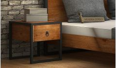 Solid wood bedside table for bedroom