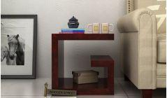 small bedside table in mahogany finish