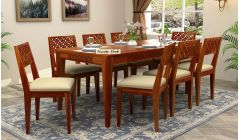 solid wood 8 seater dining table set