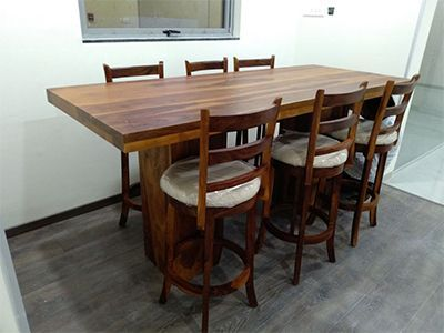 solid wood dining set designs