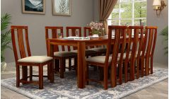 wooden 8 seater dining table set online