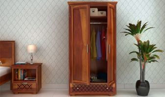 wooden wardrobe online shopping in India