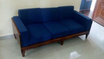 wooden sofa design with storage
