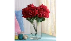 red artificial flowers