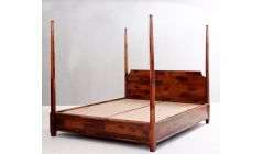 sheesham wood four poster beds with storage