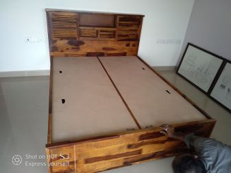 solid wood hydraulic storage bed for sale