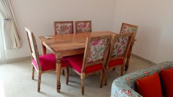 6 Seater Dining Table Set Buy Six Seater Dining Table Set Online India