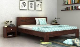 woden bed without storage in India