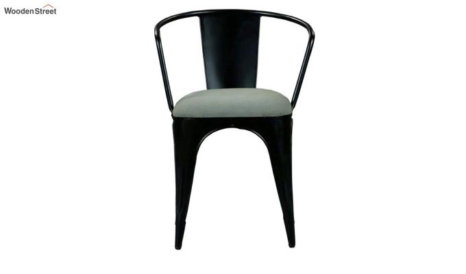 Aero Metal Arm Chair With Fabric (Black)-4