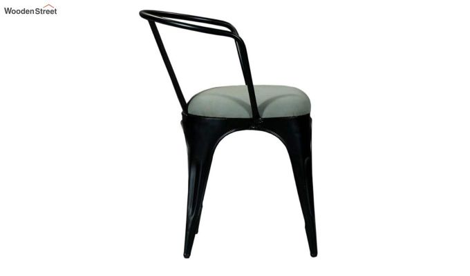 Aero Metal Arm Chair With Fabric (Black)-5