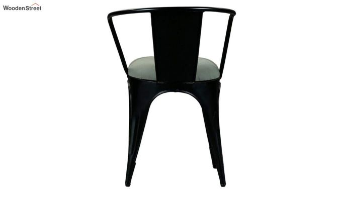 Aero Metal Arm Chair With Fabric (Black)-6