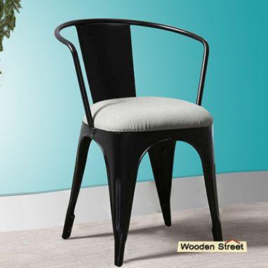 metal chair with cushion