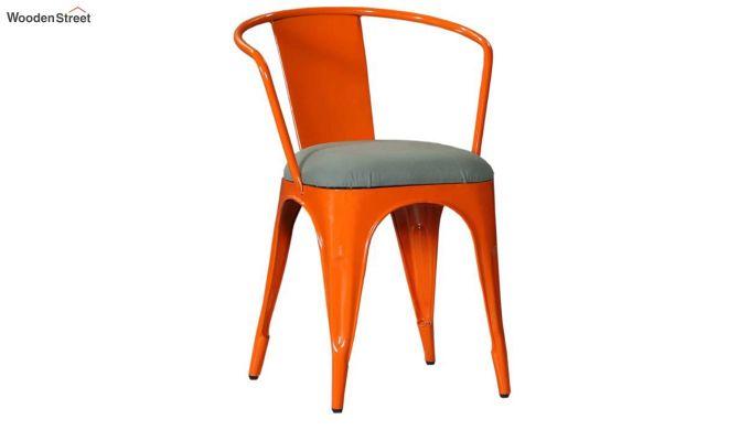 Aero Metal Arm Chair With Fabric (Orange)-2