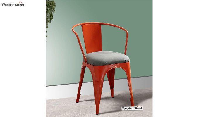 Aero Metal Arm Chair With Fabric (Orange)-1