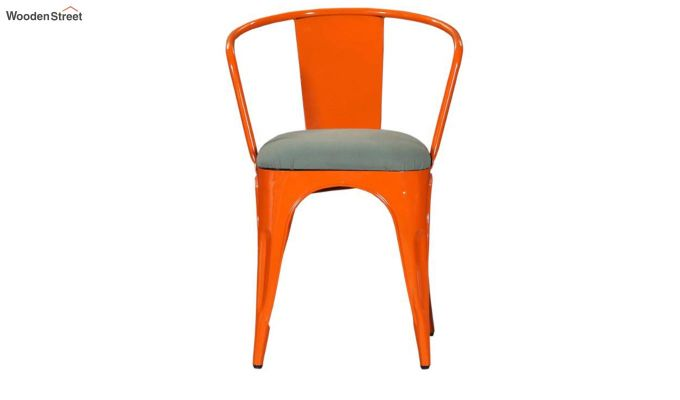 Aero Metal Arm Chair With Fabric (Orange)-3