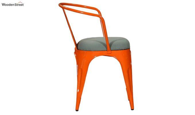 Aero Metal Arm Chair With Fabric (Orange)-4
