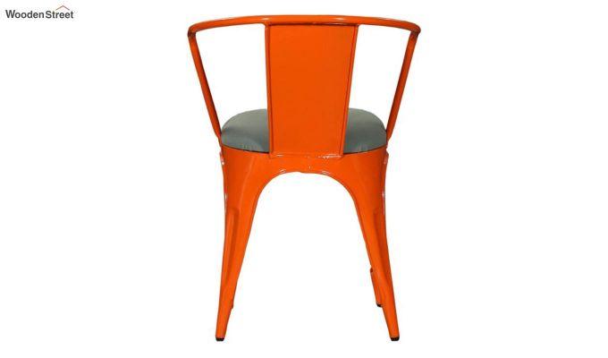 Aero Metal Arm Chair With Fabric (Orange)-5