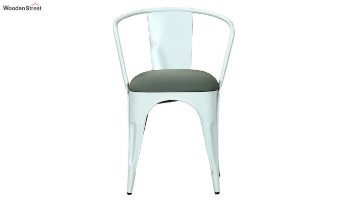 Aero Metal Arm Chair With Fabric (White)-3
