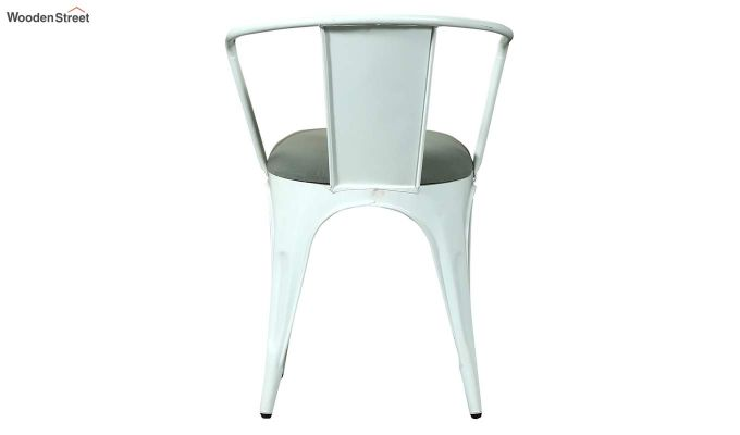 Aero Metal Arm Chair With Fabric (White)-5